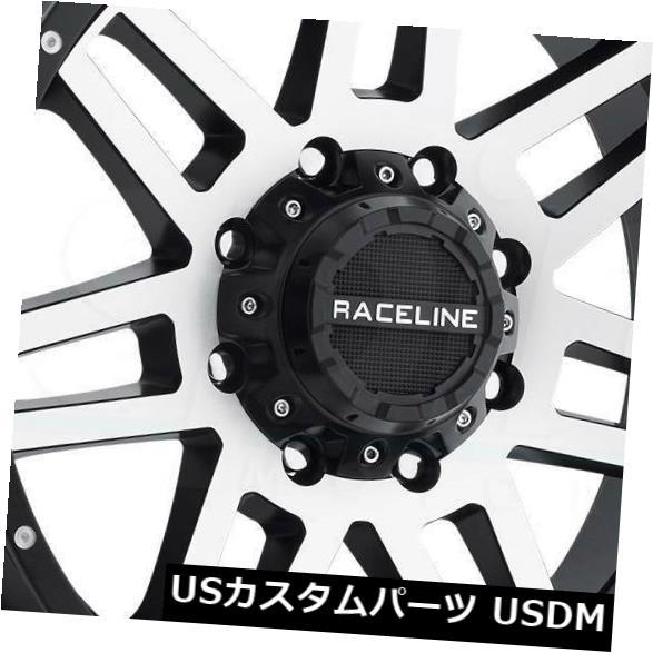 1着でも送料無料 海外輸入ホイール 16x8機械加工ブラックホイールRaceline 931Mインジェクター6x5.5 / 6x139.7 0(4個セット) 16x8 Machined Black Wheels Raceline 931M Injector 6x5.5/6x139.7 0 (Set of 4), 季乃杜(ときのもり) b82c3fa2