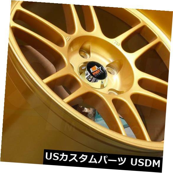 再再販! 海外輸入ホイール 18x9.5ゴールドホイールMST鈴鹿5x114.3 12(4個セット) 18x9.5 Gold Wheels MST Suzuka 5x114.3 12 (Set of 4), 癒し工房 2f533e5d
