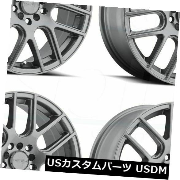 車用品 バイク用品 >> タイヤ 最安値挑戦 ホイール 海外輸入ホイール 16x7 Gunmetal Wheels Vision of 38 4x114.3 4x100 4 Cross Set 426 4個セット お買い得品
