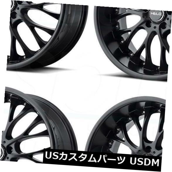 海外輸入ホイール 20x8.5サテンブラックホイールHelo HE890 5x120 35(4個セット) 20x8.5 Satin Black Wheels Helo HE890 5x120 35 (Set of 4)