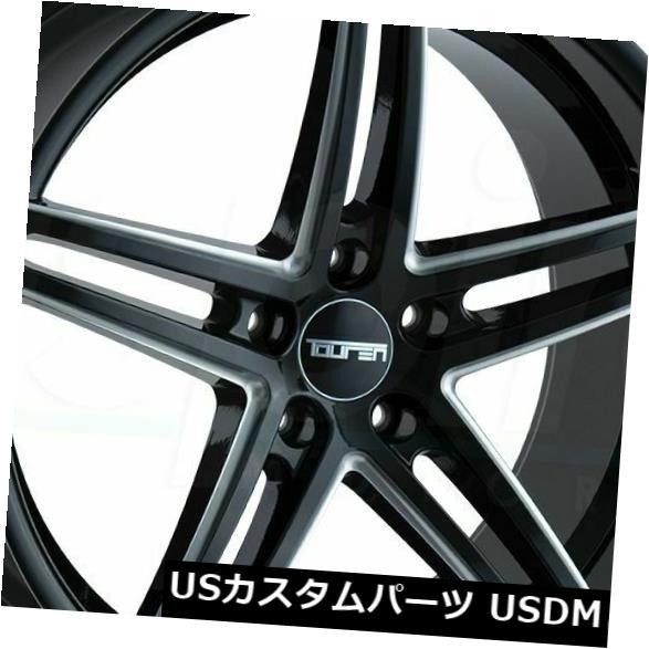 【おまけ付】 海外輸入ホイール 40 20x10グロスブラックミルドホイールトゥーレンTR73 5x114.3 Black 40(4個セット) 20x10 Gloss Black Milled Wheels 4) Touren TR73 5x114.3 40 (Set of 4), 台東区:54321fc1 --- anekdot.xyz
