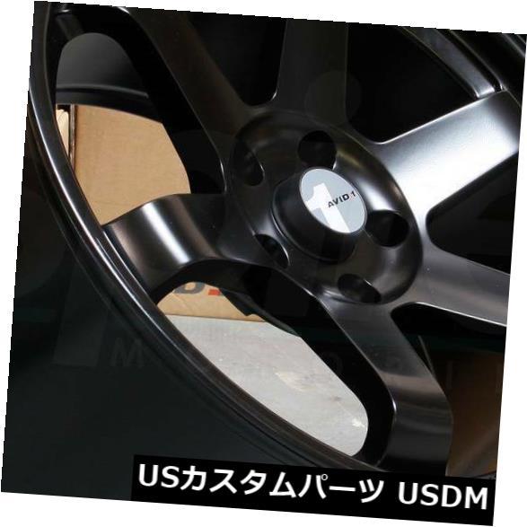 無料配達 海外輸入ホイール 17x8マットブラックホイールAVID1 AV06 AV-06 5x100 35(4個セット) 17x8 Matte Black Wheels AVID1 AV06 AV-06 5x100 35 (Set of 4), 坂井郡 93d214f0