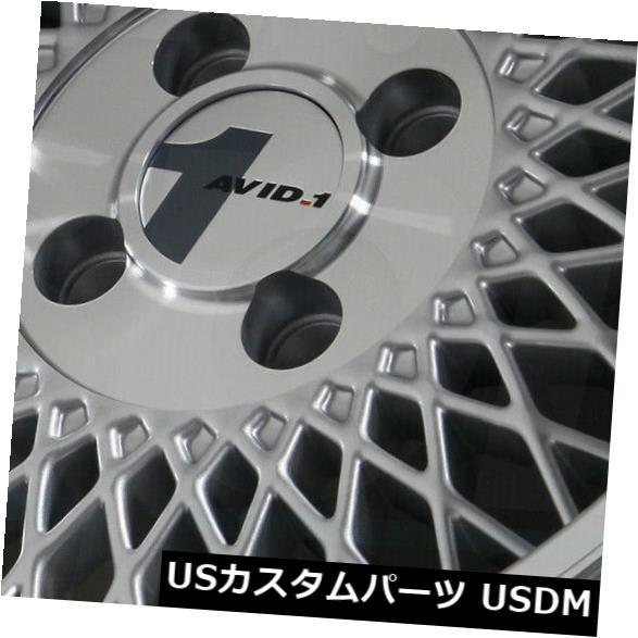 買取り実績  海外輸入ホイール 15x8シルバー加工リップホイールAVID1 AV18 AV-18 AV-18 4x100 25(4個セット) 15x8 of Silver Machined 15x8 Lip Wheels AVID1 AV18 AV-18 4x100 25 (Set of 4), 爆買い!:6923f39a --- mail.ciabbatta.com.pl