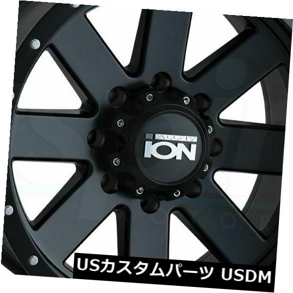 【人気急上昇】 海外輸入ホイール 20x9マットブラックホイールイオン134 6x120 18(4個セット) 20x9 Matte Black Wheels Ion 134 6x120 18 (Set of 4), セイリーハウス 510e14fc