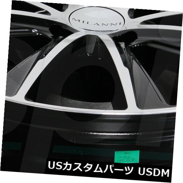 誕生日プレゼント 海外輸入ホイール 20x10.5ブラックマシニングホイールMilanni 471 Splinter 5x114.3 42(4個セット) 20x10.5 Black Machined Wheels Milanni 471 Splinter 5x114.3 42 (Set of 4), イカタチョウ 622f8950