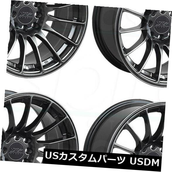 海外輸入ホイール 18x9.75 Chromium Black Wheels XXR 550 5x100 / 5x114.3 36(4個セット) 18x9.75 Chromium Black Wheels XXR 550 5x100/5x114.3 36 (Set of 4)