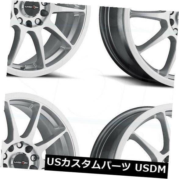 大人気 海外輸入ホイール 16x7 4x100/4x108 Hyper 4) Silver Wheels Vision Bane 425 Bane 4x100/ 4x108 42(4個セット) 16x7 Hyper Silver Wheels Vision 425 Bane 4x100/4x108 42 (Set of 4), トモベマチ:c5b176b4 --- verandasvanhout.nl