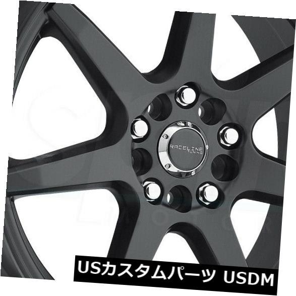 海外輸入ホイール 17x7.5ブラックホイールRaceline 131B Evo 5x112 5x120 20 4個セット 17x7.5 Black Wheels Raceline 131B Evo 5x112 5x120 20 Set of 4
