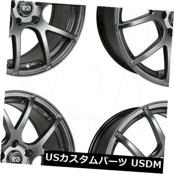 海外輸入ホイール 17x7.5 Hyper Black Wheels Enkei M52 5x114.3 50(4個セット) 17x7.5 Hyper Black Wheels Enkei M52 5x114.3 50 (Set of 4)