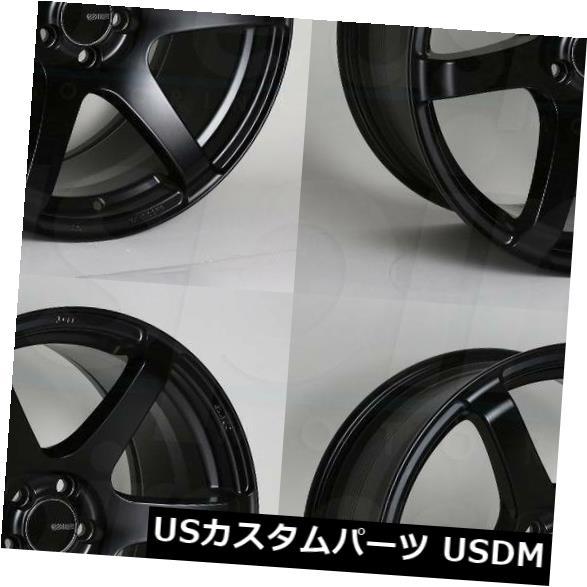 海外輸入ホイール 18x8.5ブラックペイントホイールEnkei T6S 5x114.3 25 4個セット 18x8.5 Black Paint Wheels Enkei T6S 5x114.3 25 Set of 4