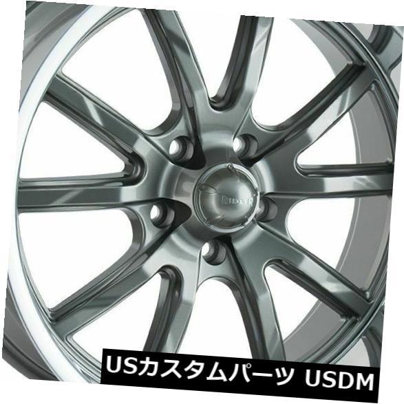 車用品 バイク用品 >> タイヤ ホイール 海外輸入ホイール 15x7 予約販売品 15x8 Gunmetal Wheels 低廉 4個セット 0 4 5x5 Ridler 5x127 Set of 650