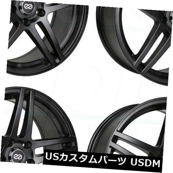 上品 海外輸入ホイール 17x7.5ブラックペイントホイールエンケイRSF5 5x100 40(4個セット) (Set RSF5 17x7.5 5x100 Black Paint Wheels Enkei RSF5 5x100 40 (Set of 4), チュウルイムラ:160fc2e6 --- tedlance.com