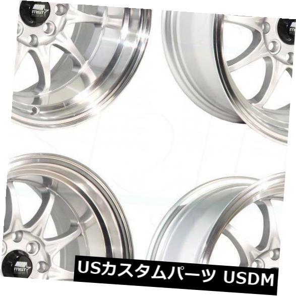 【お取り寄せ】 海外輸入ホイール 15x8 MT11/ 15x9シルバーホイールMST MT11 4x100/ 4x114.3 MST 0 0/0/0(4個セット) 15x8/15x9 Silver Wheels MST MT11 4x100/4x114.3 0/0 (Set of 4), 宇土郡:50288dae --- anekdot.xyz