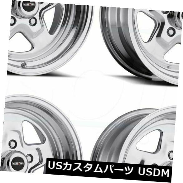 海外輸入ホイール 15x8ポリッシュドホイールVision 521 Nitro 5x5 5x127 0 4個セット 15x8 Polished Wheels Vision 521 Nitro 5x5 5x127 0 Set of 4