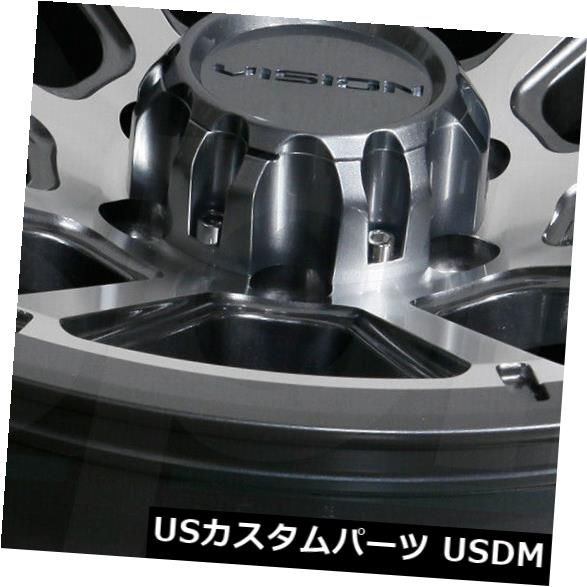 100%正規品 海外輸入ホイール (Set 17x8.5 Gunmetal Gunmetal Machined Wheels Vision 4) 353 Turbine 5x5/ 5x127 -6(4個セット) 17x8.5 Gunmetal Machined Wheels Vision 353 Turbine 5x5/5x127 -6 (Set of 4), ナチュラル服、雑貨 a-leaffactory:93ff1dd5 --- tedlance.com