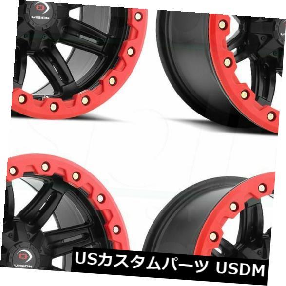 【はこぽす対応商品】 海外輸入ホイール Five 12x7マットブラックホイールビジョンATV 551 Five Fifty (Set Black One 4x156 3(4個セット) 12x7 Matte Black Wheels Vision ATV 551 Five Fifty One 4x156 3 (Set of 4), ニッコウシ:bf7452b0 --- verandasvanhout.nl