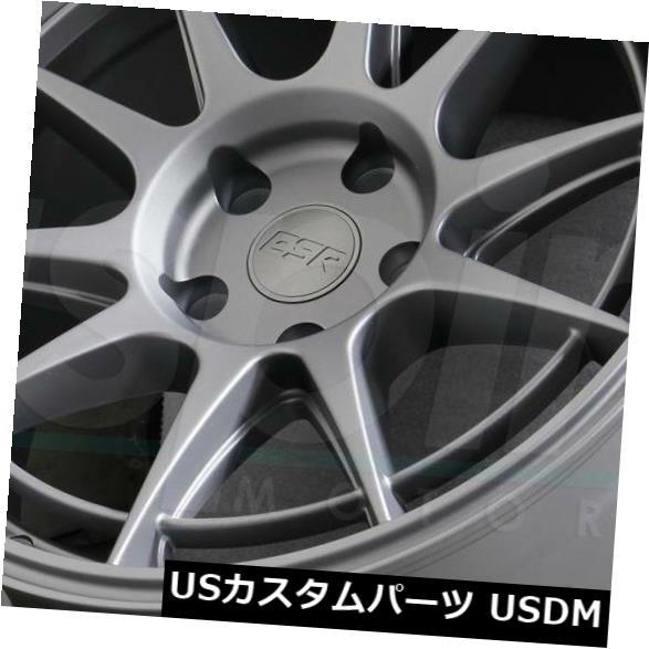 超人気高品質 海外輸入ホイール ESR 18x10.5グレーホイールESR Grey SR13 5x114.3 22(4個セット) 18x10.5 Grey Wheels ESR of SR13 5x114.3 22 (Set of 4), テイネク:45a61234 --- avpwingsandwheels.com