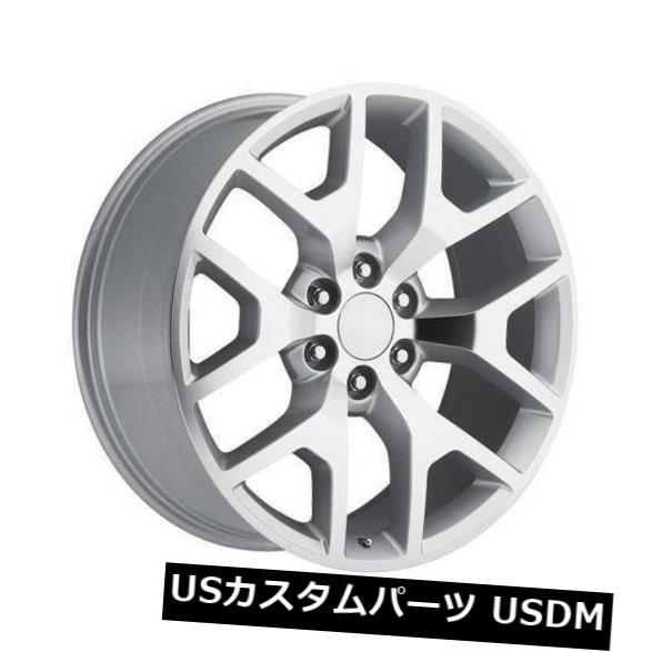 海外輸入ホイール 20x9シルバーホイールレプリカV1176 GMCシエラ6x5.5 31(4個セット) 20x9 Silver Wheels Replica V1176 GMC Sierra 6x5.5 31 (Set of 4)