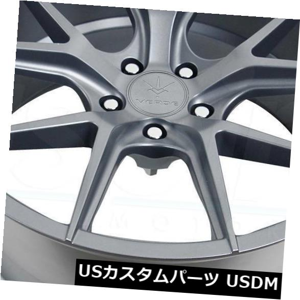 新しいコレクション 海外輸入ホイール 19x8.5 / 19x9.5マットグラファイトホイールVerde V99軸5x114.3 15/20(4個セット) 19x8.5/19x9.5 Matte Graphite Wheels Verde V99 Axis 5x114.3 15/20 (Set of 4), はいて屋 6a33ff4f