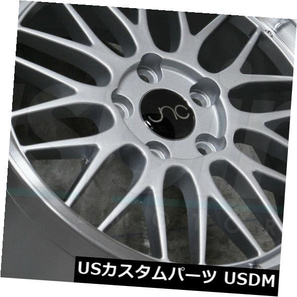 海外輸入ホイール 17x8.5 / 17x9.5シルバーマシンリップホイールJNC 005 JNC005 5x112 30/32(4個セット)  17x8.5/17x9.5 Silver Machine Lip Wheels JNC 005 JNC005 5x112 30/32 (Set of 4):WORLD倉庫 店