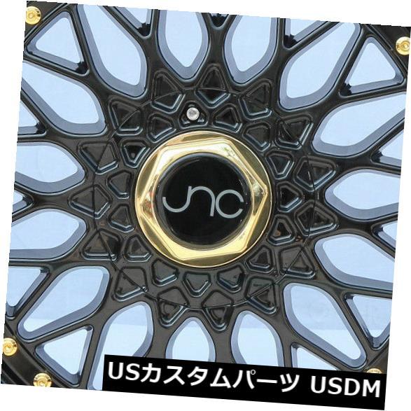 海外輸入ホイール 4-新しい18インチJNC 004 JNC004ホイール18x9.5 5x112 5x120 25グロスブラック リム 4-New 18 JNC 004 JNC004 Wheels 18x9.5 5x112 5x120 25 Gloss