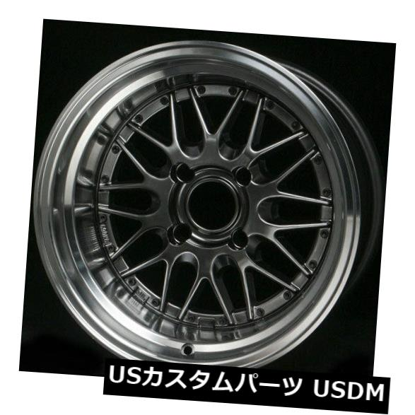 "海外輸入ホイール 4-New 15 """"Rota Kensei Wheels 15x8 4x114.3 0 Royal Hyper Black Rims 4-New 15"""" Rota Kensei Wheels 15x8 4x114.3 0 Royal Hyper Black Rims"