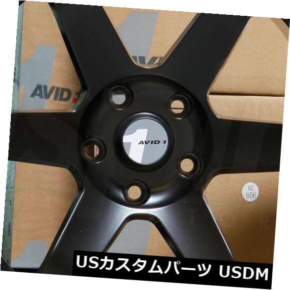 """海外輸入ホイール 4-新しい18インチAVID1 AV06 AV-06ホイール18x9.5 5x114.3 18マットブラックリム 4-New 18"""""""" AVID1 AV06 AV-06 Wheels 18x9.5 5x114.3 18 Matte Black Rims"""