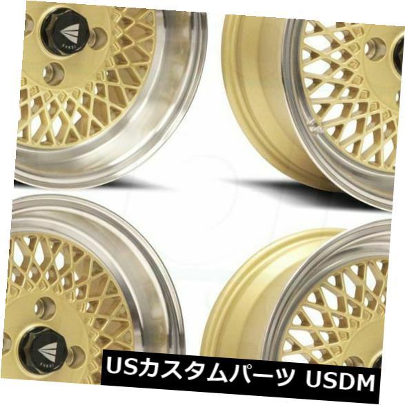 """海外輸入ホイール 4-New 15 """"""""Enkei Enkei92 Wheels 15x7 4x100 38 Gold Paint Rims 4-New 15"""""""" Enkei Enkei92 Wheels 15x7 4x100 38 Gold Paint Rims"""