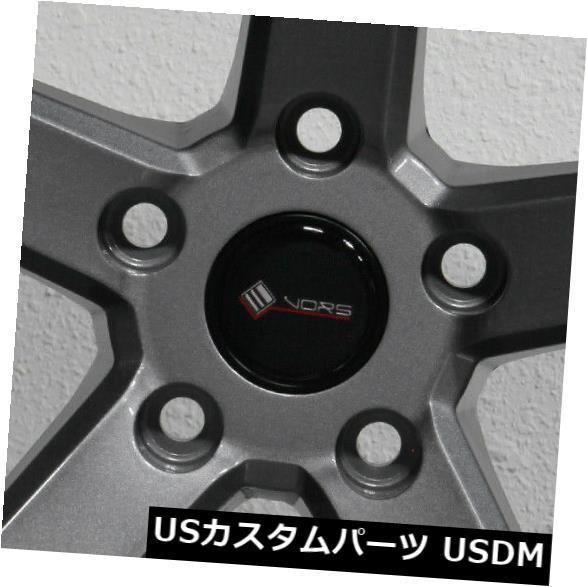 """海外輸入ホイール 4-新しい18 """"""""Vors TR5 Wheels 18x8.5 / 18x9.5 5x114.3 35/35 Gun Metal Staggered Rims 4-New 18"""""""" Vors TR5 Wheels 18x8.5/18x9.5 5x114.3 35/35 Gun Metal Staggered Rims"""