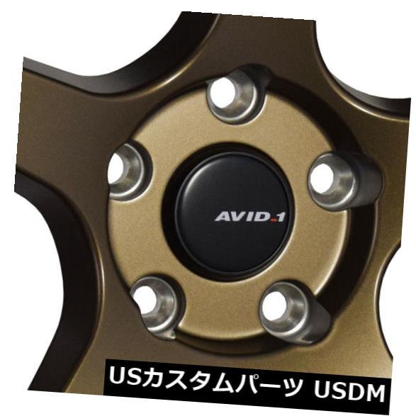 """海外輸入ホイール 4-新しい18インチAVID1 AV28ホイール18x9.5 5x114.3 35ブロンズリム 4-New 18"""""""" AVID1 AV28 Wheels 18x9.5 5x114.3 35 Bronze Rims"""