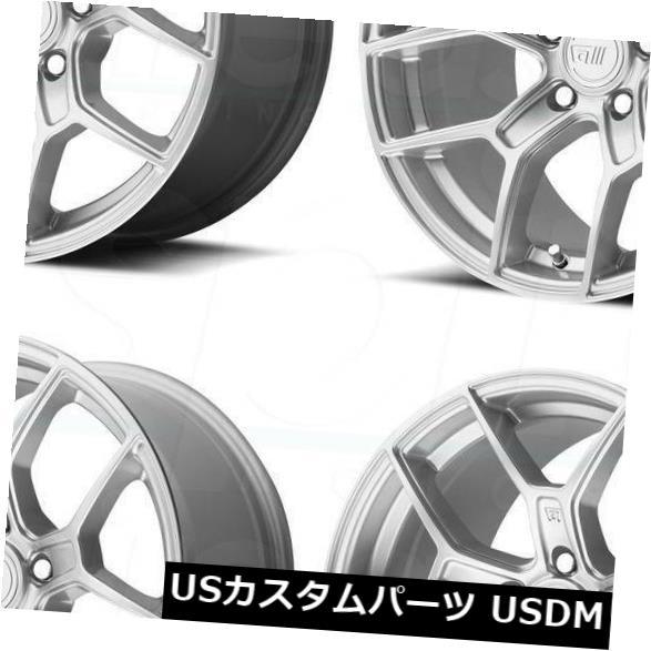 新しく着き 海外輸入ホイール 4-新しい18インチMotegi Wheels MR133ホイール18x9.5 5x120 45ハイパーシルバーリム 海外輸入ホイール 4-New 18