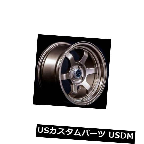 【ギフ_包装】 海外輸入ホイール 4x100 4-新しい15インチJNC 013 Rims JNC013ホイール15x8 20 4x100 20ブロンズリム 4-New 15
