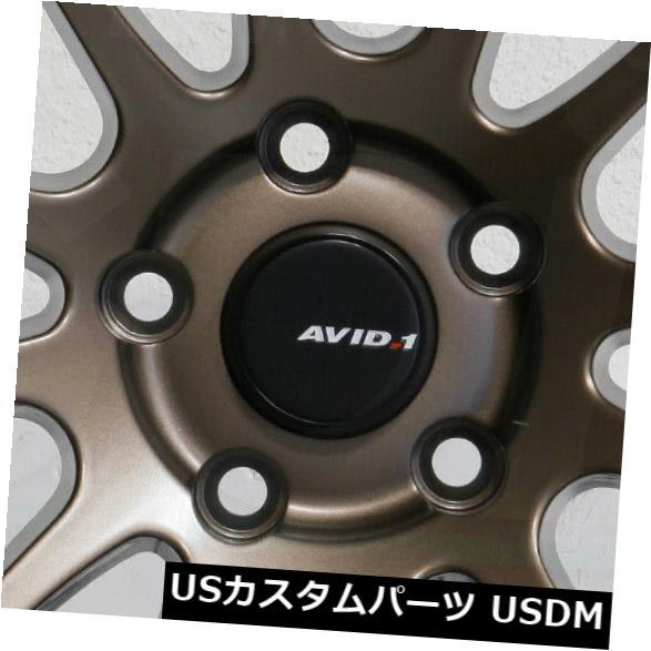 """海外輸入ホイール 4-新しい18インチAVID1 AV20 AV-20ホイール18x9.5 5x114.3 22マットブロンズリム 4-New 18"""""""" AVID1 AV20 AV-20 Wheels 18x9.5 5x114.3 22 Matte Bronze Rims"""
