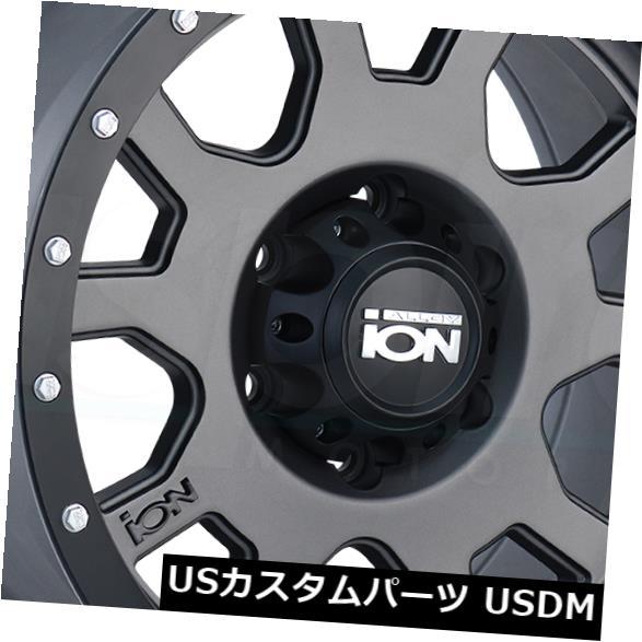 """海外輸入ホイール 4-New 17 """"""""Ion 135 Wheels 17x8 5x5 / 5x127 10 Matte Gunmetal Rims 4-New 17"""""""" Ion 135 Wheels 17x8 5x5/5x127 10 Matte Gunmetal Rims"""
