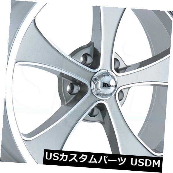 【メール便不可】 海外輸入ホイール Wheels 4-新しい20インチRidler Ridler Gunmetal 645ホイール20x10 5x4.75/ 5x120.6 5 0ガンメタルリム 4-New 20