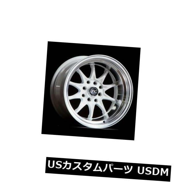流行 海外輸入ホイール 4-新しい15インチJNC/ 003 JNC003ホイール15x8 4x100/ 4x100/4x114.3 4x114.3 Rims 0ホワイトマシンリップリム 4-New 15