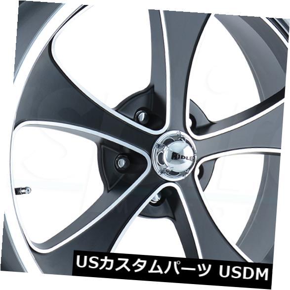 海外輸入ホイール 4-新しい17 Ridler 645 Wheels 17x7 5x4.75 5x120.6 5 0ブラックポリッシュリップリム 4-New 17 Ridler 645 Wheels 17x7 5x4.75 5x120.65 0 Black