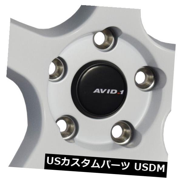 海外輸入ホイール 4-新しい18インチAVID1 AV28ホイール18x9.5 5x114.3 35ホワイトリム 4-New 18 AVID1 AV28 Wheels 18x9.5 5x114.3 35 White Rims