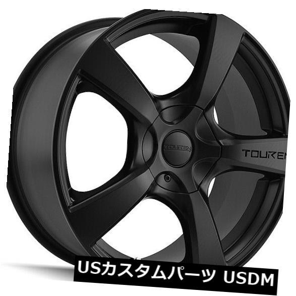 【在庫処分大特価!!】 海外輸入ホイール 4-新しい16インチTouren TR9ホイール16x7 5x100 Matte/ 16x7 5x114.3 42マットブラックリム 4-New Wheels 16