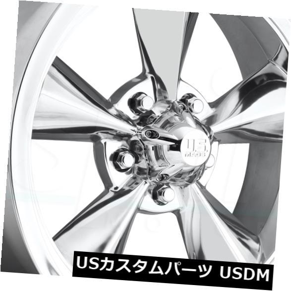 """海外輸入ホイール 4-新しい15インチUS Mags標準U108ホイール15x7 / 15x8 5x4.5 -5/1ポリッシュスタガードR 4-New 15"""""""" US Mags Standard U108 Wheels 15x7/15x8 5x4.5 -5/1 Polished Staggered R"""
