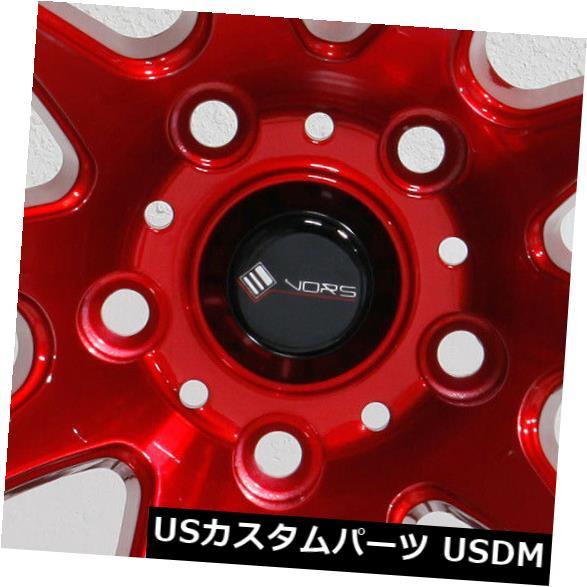 贅沢 海外輸入ホイール 4-新しい18インチVors TR4ホイール18x9.5 5x110 22キャンディレッドリム 4-New 5x110 18