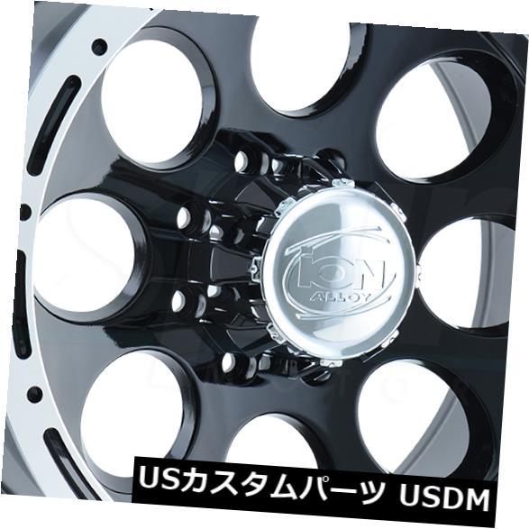 海外輸入ホイール 4-New 16 Ion 174 Wheels 16x10 5x5.5 5x139.7 -38 Black Machined Lip Rims 4-New 16 Ion 174 Wheels 16x10 5x5.5 5x139.7 -38
