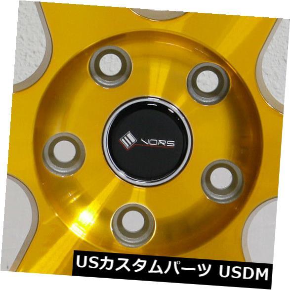 【超安い】 海外輸入ホイール 4-新しい18インチVors Candy TR37ホイール18x8.5/ 18x9.5 Staggered 5x110 35/35キャンディゴールドスタッガードリム Rims 4-New 18