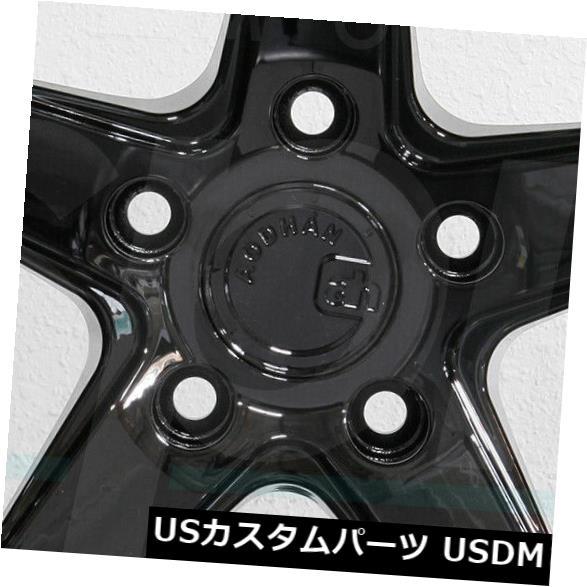 全日本送料無料 海外輸入ホイール 4-新しい18インチAodhan DS05 DS5ホイール18x9.5 5x100 35ブラックリム 4-New 18