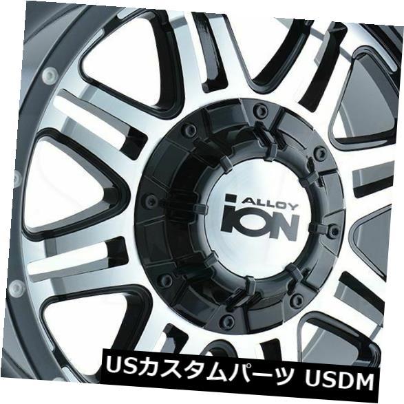 """海外輸入ホイール 4-新しい18インチイオン186ホイール18x9 5x114.3 / 5x5 -12ブラック加工リム 4-New 18"""""""" Ion 186 Wheels 18x9 5x114.3/5x5 -12 Black Machined Rims"""