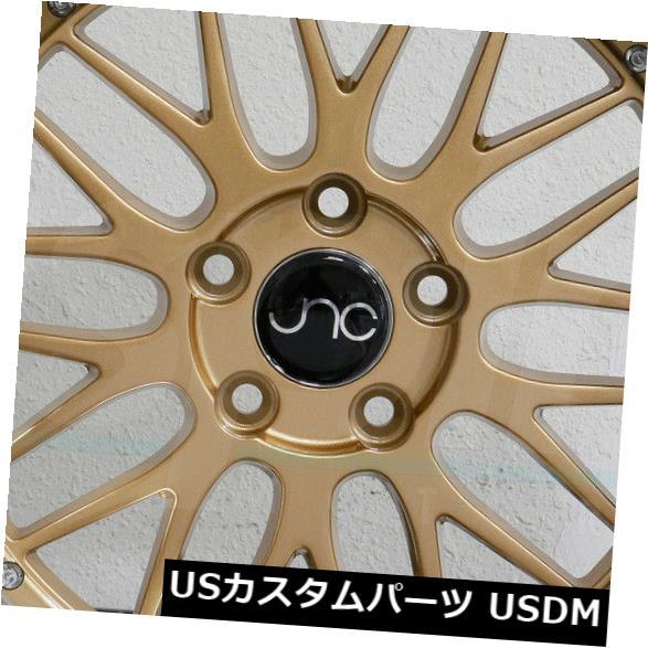 海外輸入ホイール 4-新しい20インチJNC 005 JNC005ホイール20x8.5 5x112 30ゴールドマシンリップリム 4-New 20 JNC 005 JNC005 Wheels 20x8.5 5x112 30 Gold Machine Lip