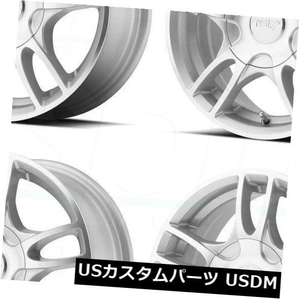 """海外輸入ホイール 4-New 17 """"""""AR919 Estrella 2 Wheels 17x7.5 5x114.3 / 5x4.5 / 5x120 45 Silver Machine R 4-New 17"""""""" AR919 Estrella 2 Wheels 17x7.5 5x114.3/5x4.5/5x120 45 Silver Machine R"""