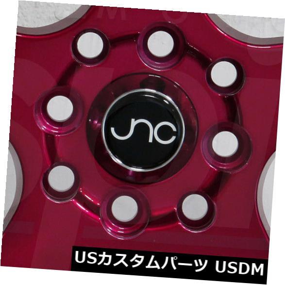 新作人気モデル 海外輸入ホイール 5x120 4-新しい18インチJNC 010 JNC010ホイール18x10 5x120 Machine 30キャンディレッドマシンリップリム 4-New 18