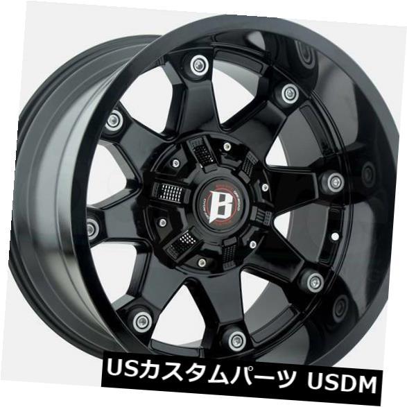 海外輸入ホイール 4-New 20 Ballistic 581 Beast Wheels 20x10 5x114.3 5x5 -24ブラックリム 4-New 20 Ballistic 581 Beast Wheels 20x10 5x114.3 5x5 -