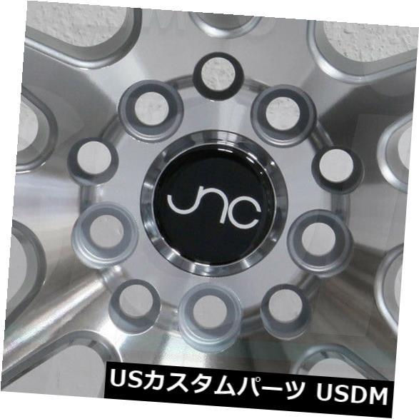 超安い品質 海外輸入ホイール 4-新しい18インチJNC 030 JNC030ホイール18x10 5x112 30ハイパーシルバーリム 4-New JNC Silver 18